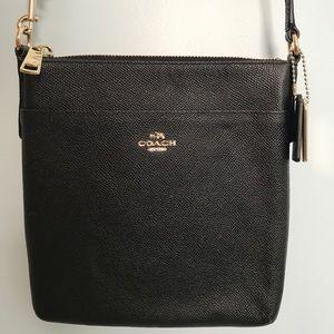 Black Coach messenger courier crossbody bag